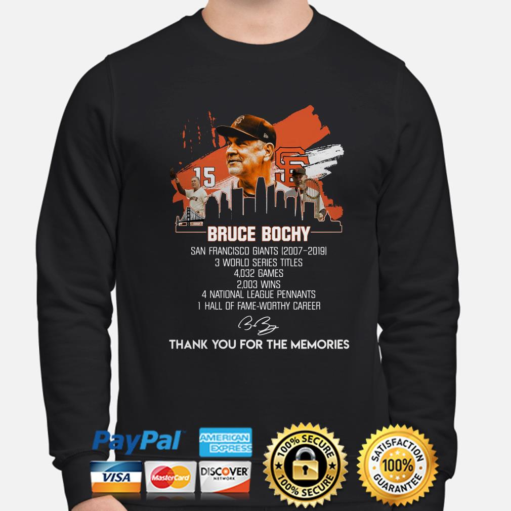 Bruce Bochy thank you for the memories sweater