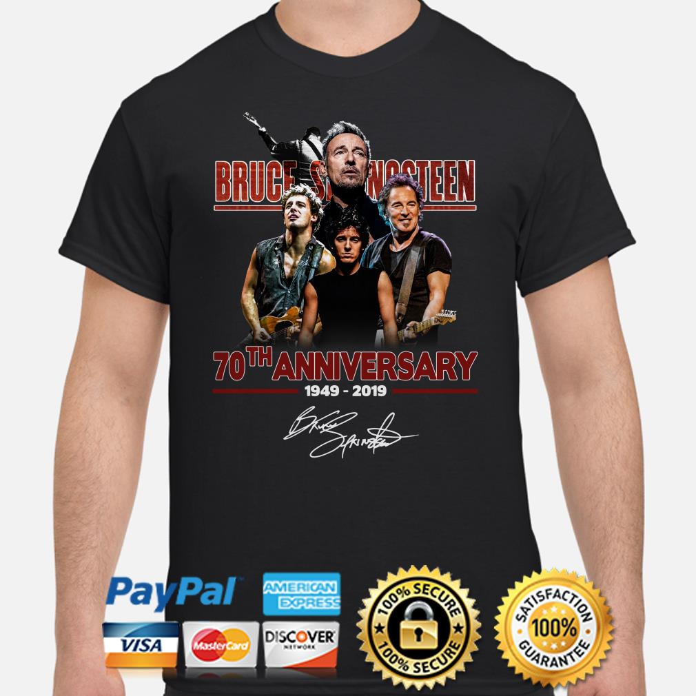 Bruce Springsteen 70th Anniversary signature shirt