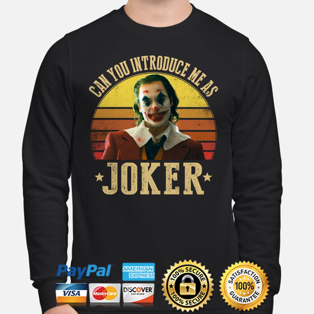 Can you introduce me as Joker Vintage sweater