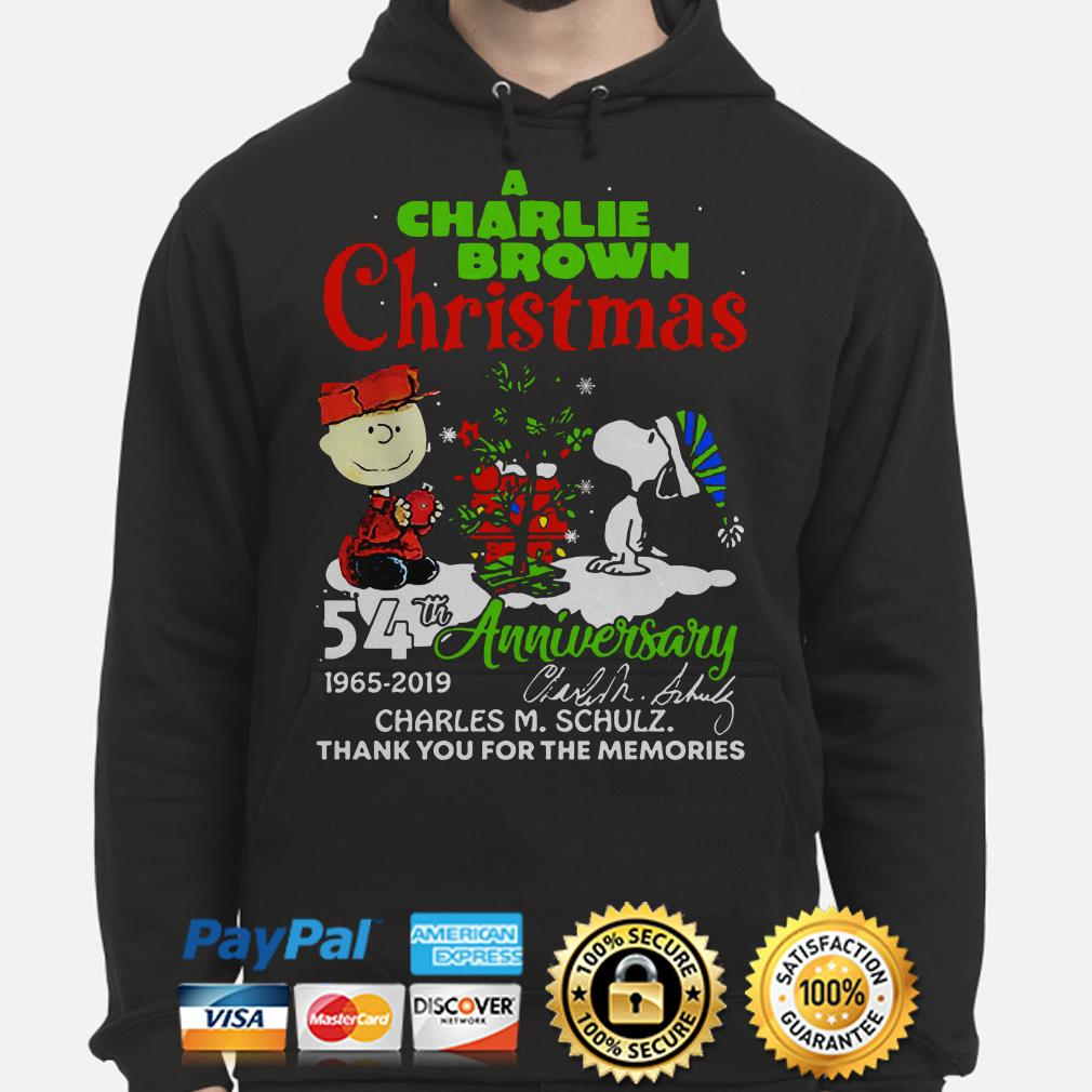 A Charlie Brown Christmas 54th anniversary thank you for the memories hoodie