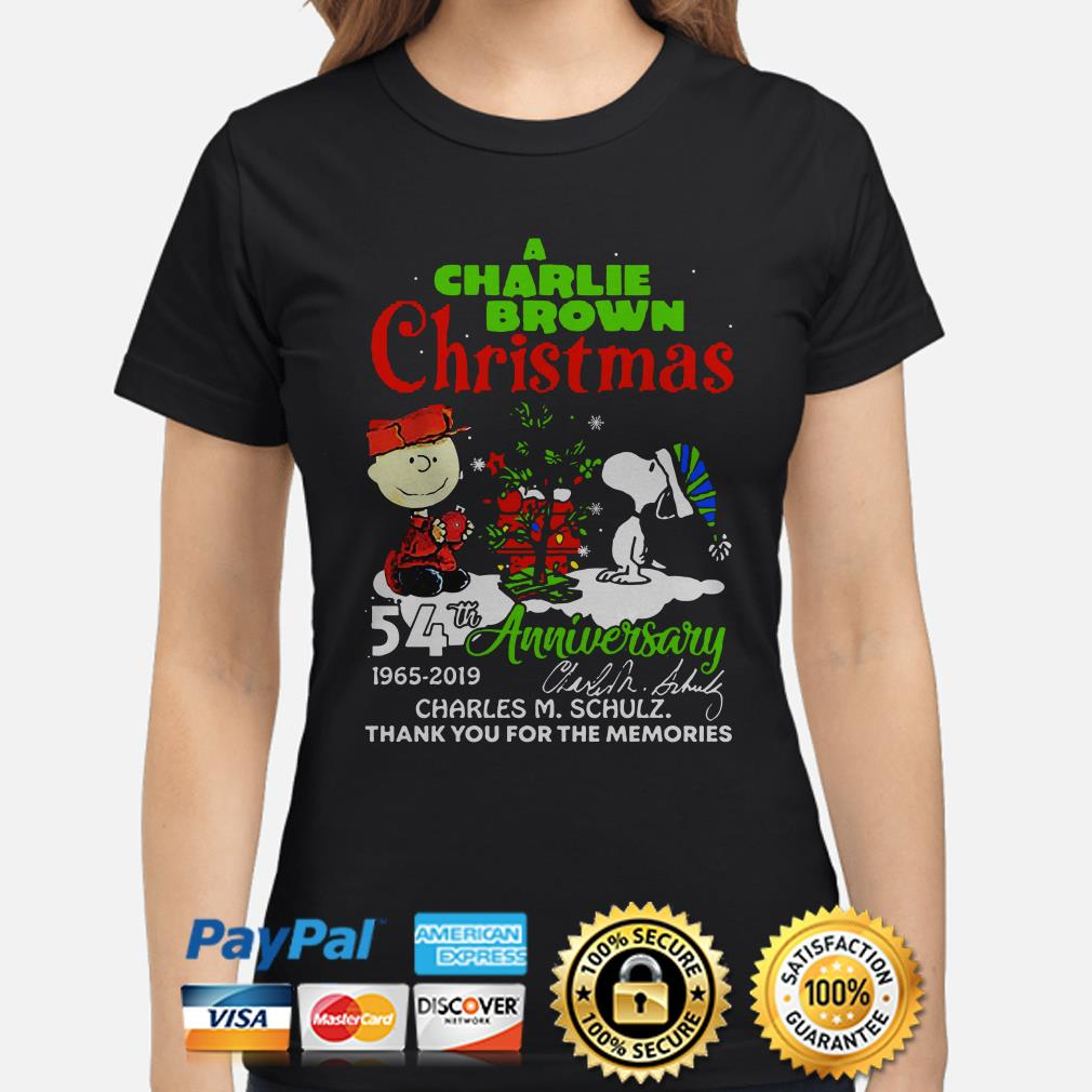A Charlie Brown Christmas 54th anniversary thank you for the memories ladies shirt