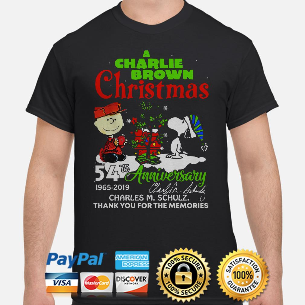 A Charlie Brown Christmas 54th anniversary thank you for the memories shirt