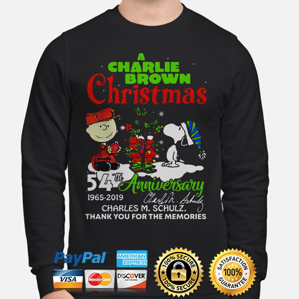 A Charlie Brown Christmas 54th anniversary thank you for the memories sweater