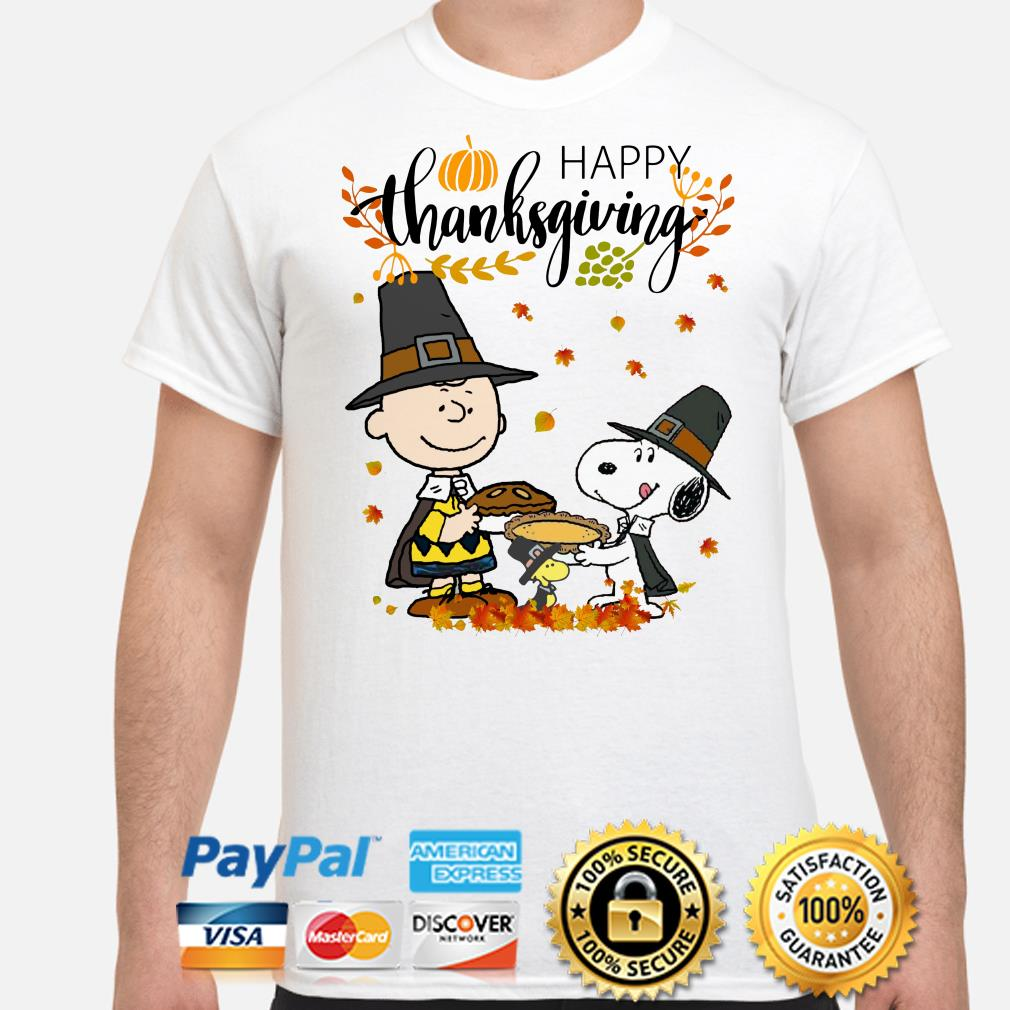 Charlie Brown, Snoopy and Woodstock Happy Thanksgiving shirt