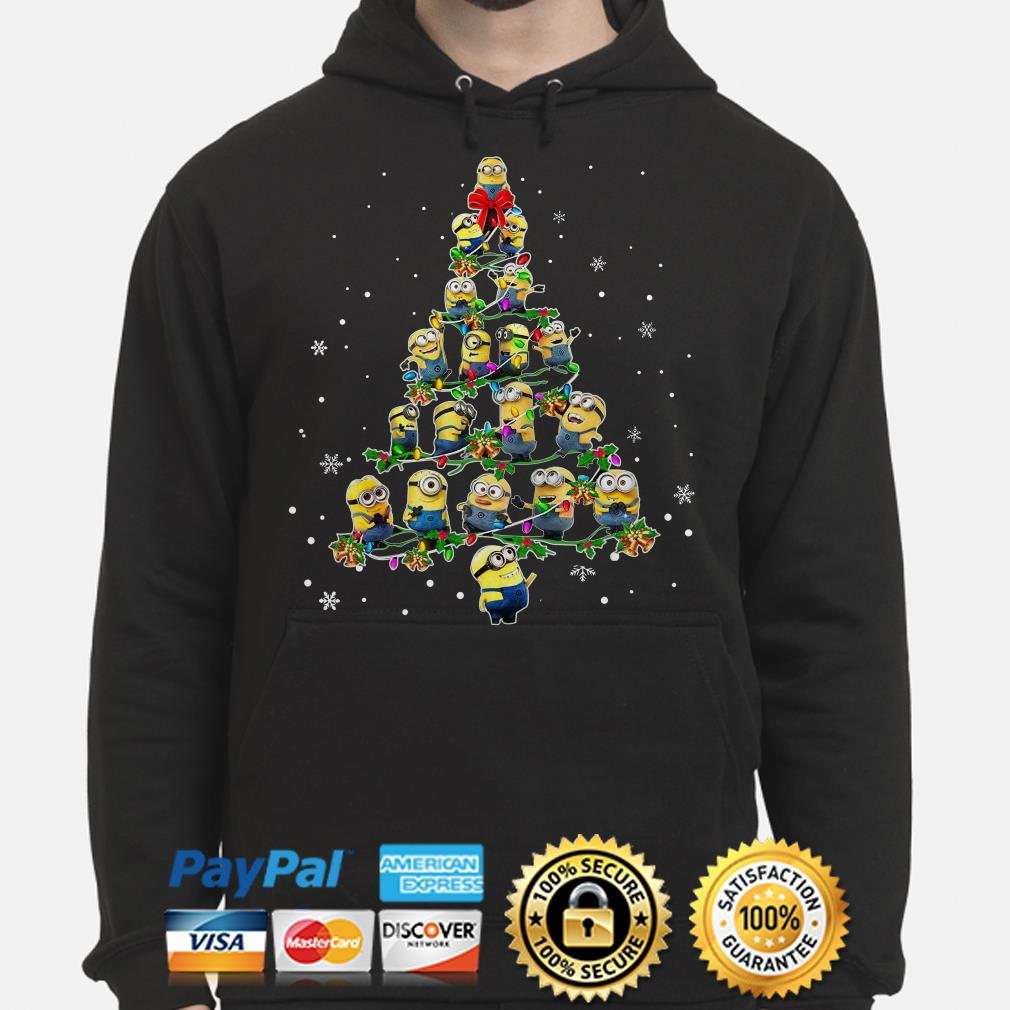 Despicable me Minions Christmas tree hoodie
