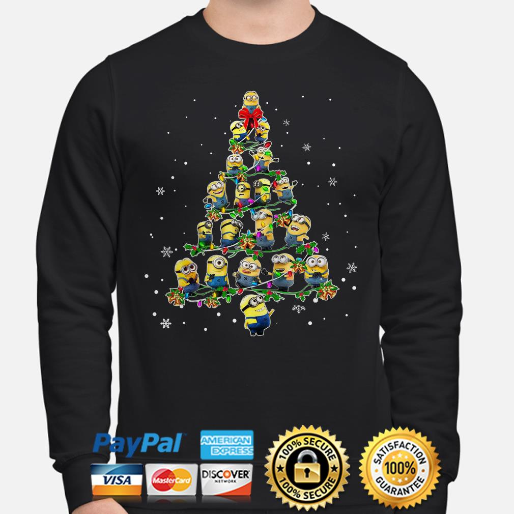 Despicable me Minions Christmas tree sweater