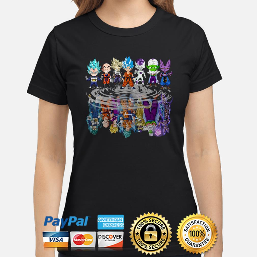 Dragonball Z characters water Mirror ladies shirt