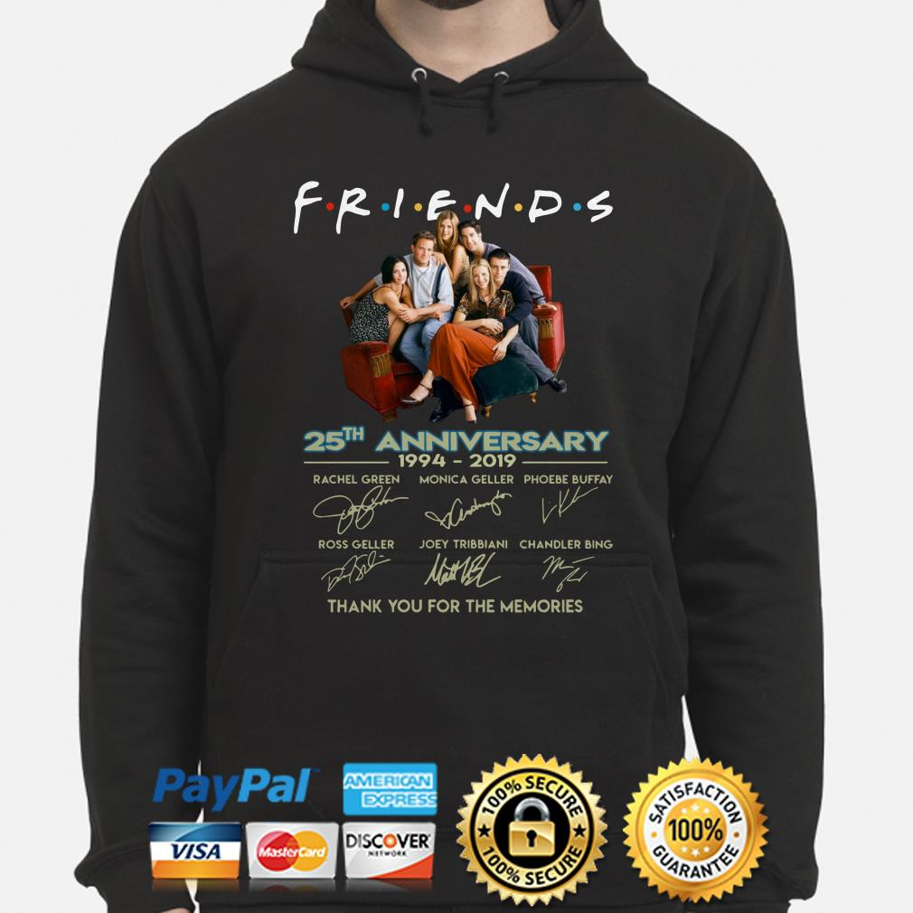 Friends 25th Anniversary thank you for the memories hoodie
