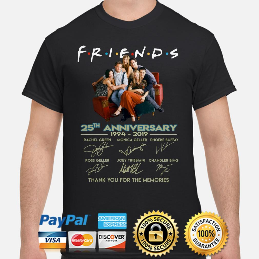 Friends 25th Anniversary thank you for the memories shirt