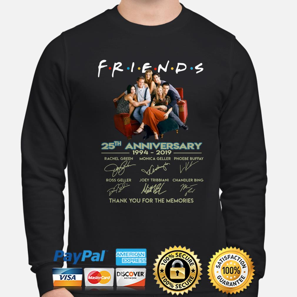 Friends 25th Anniversary thank you for the memories sweater