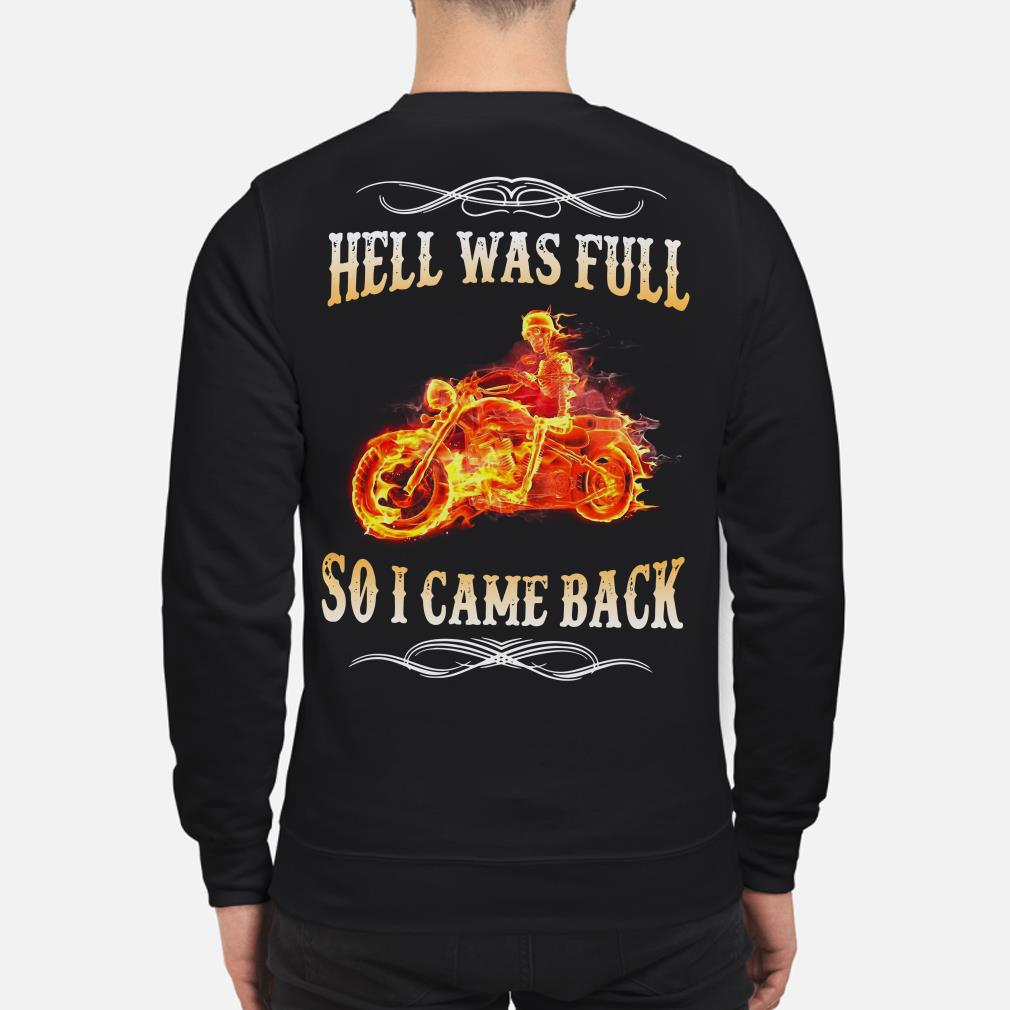 Ghost rider Hell was full so I came back sweater