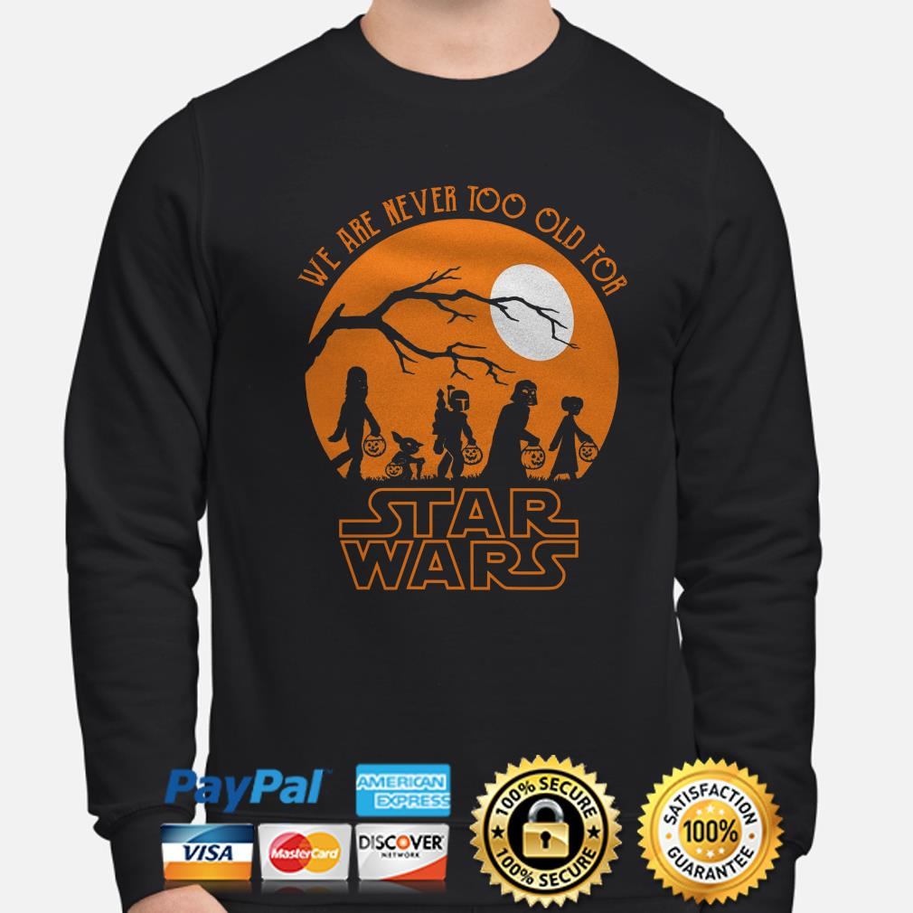 Halloween we are never too old for Star Wars moon sweater