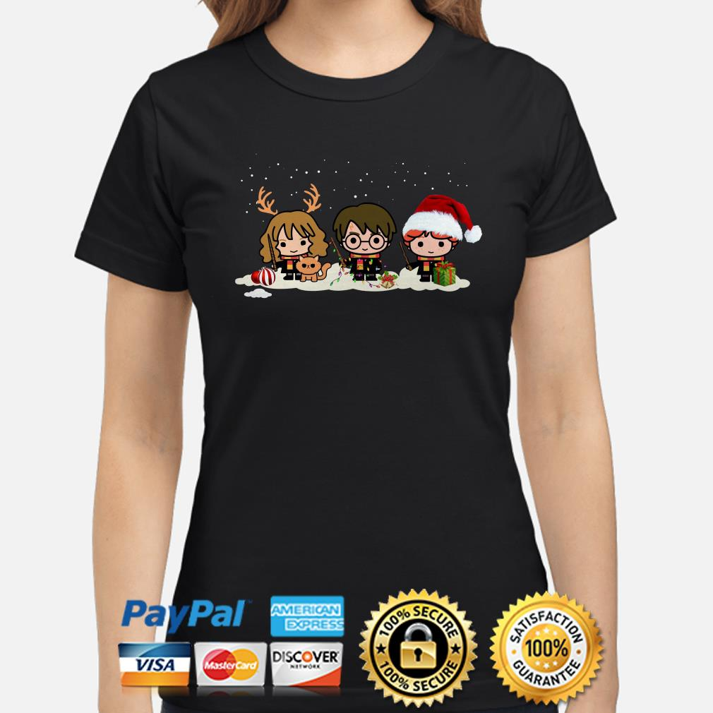 Harry Potter Chibi characters Christmas ladies shirt
