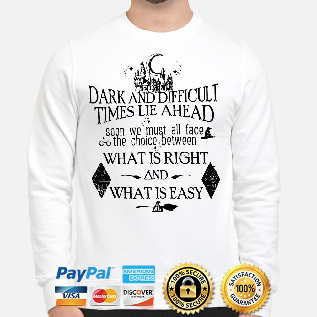Harry Potter Dark and difficult time lie ahead what is right and what is easy sweater