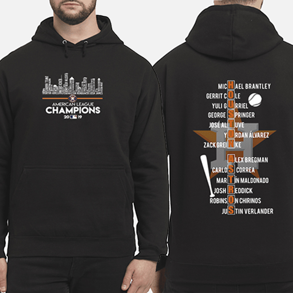 Houston Astros American league Champions 2019 players name list hoodie