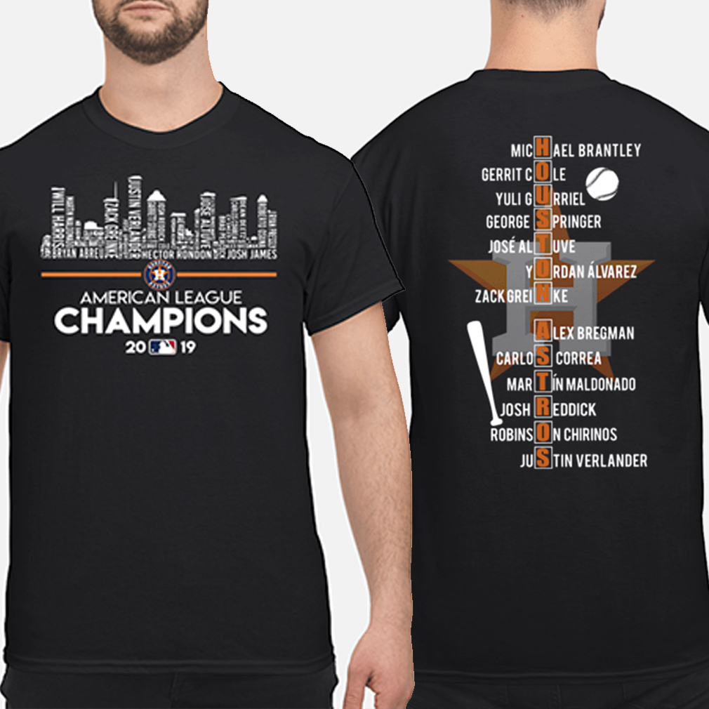 Houston Astros American league Champions 2019 players name list shirt