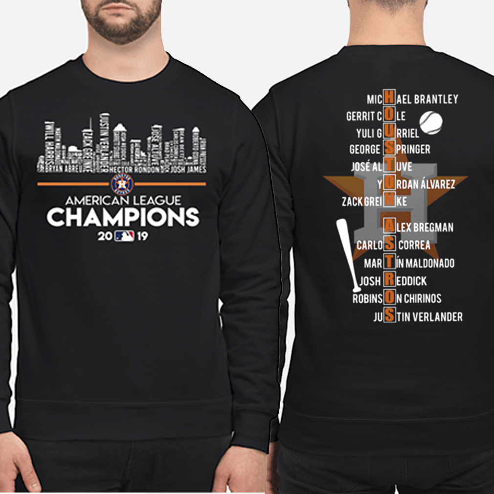 Houston Astros American league Champions 2019 players name list sweater