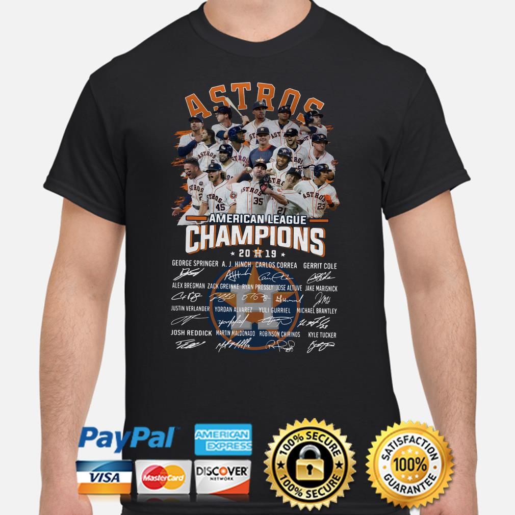 Houston Astros American League Champions signature shirt