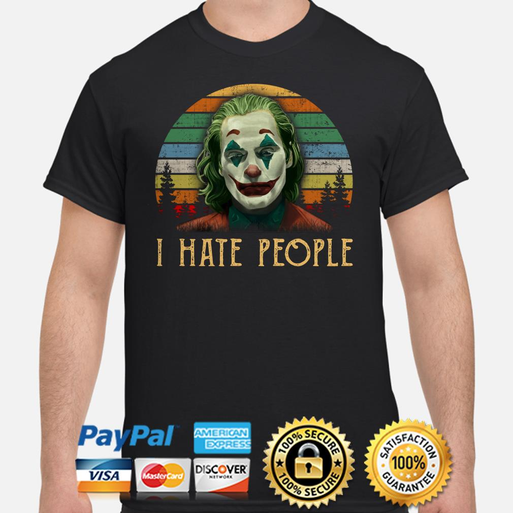 Joker I hate People vintage shirt