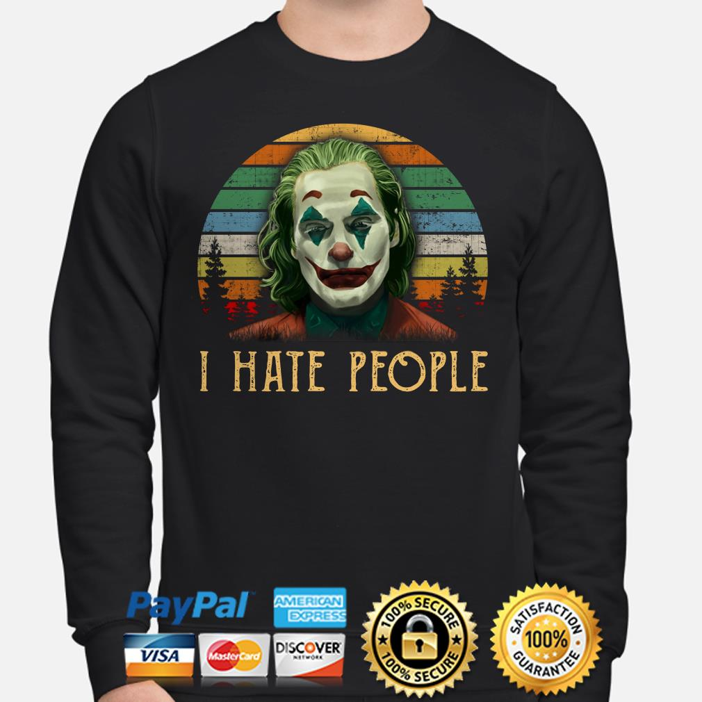 Joker I hate People vintage sweater