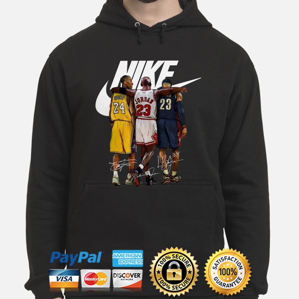 Kobe Bryant, Michael Jordan and LeBron James Nike signature hoodie