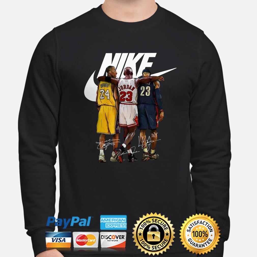 Kobe Bryant, Michael Jordan and LeBron James Nike signature sweater