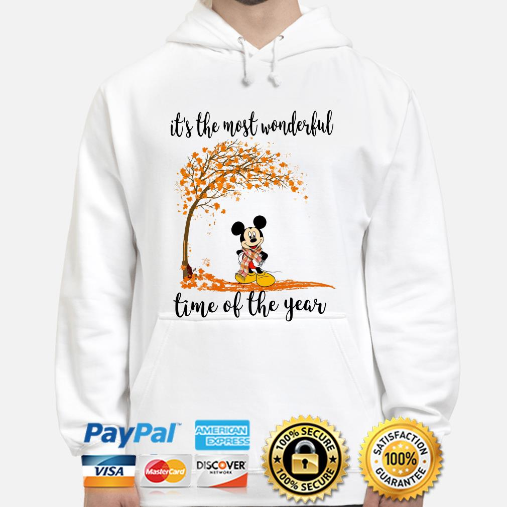 Mickey Autumn it's the most wonderful time of the years hoodie