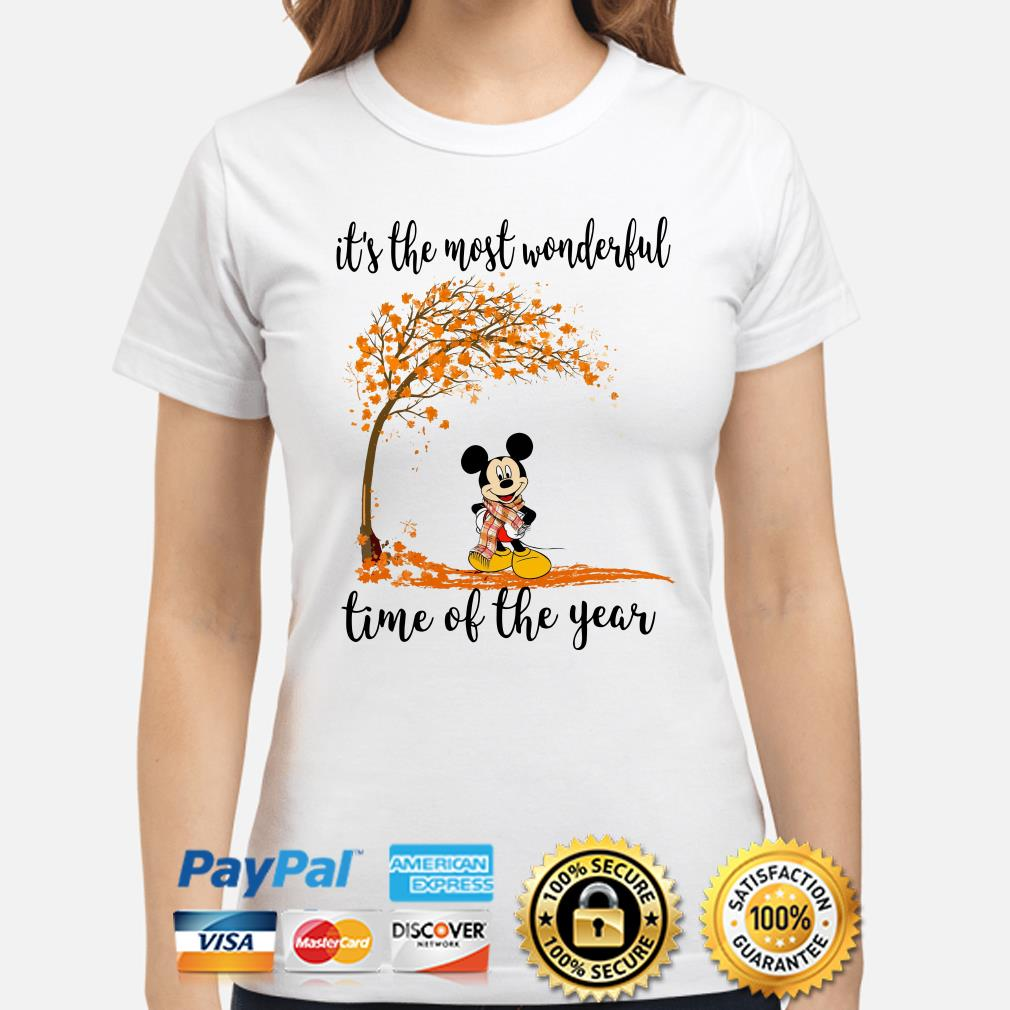 Mickey Autumn it's the most wonderful time of the years ladies shirt