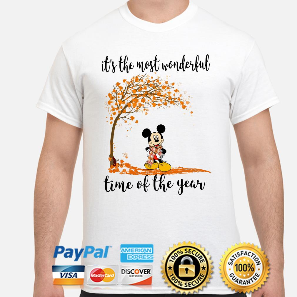 Mickey Autumn it's the most wonderful time of the years shirt