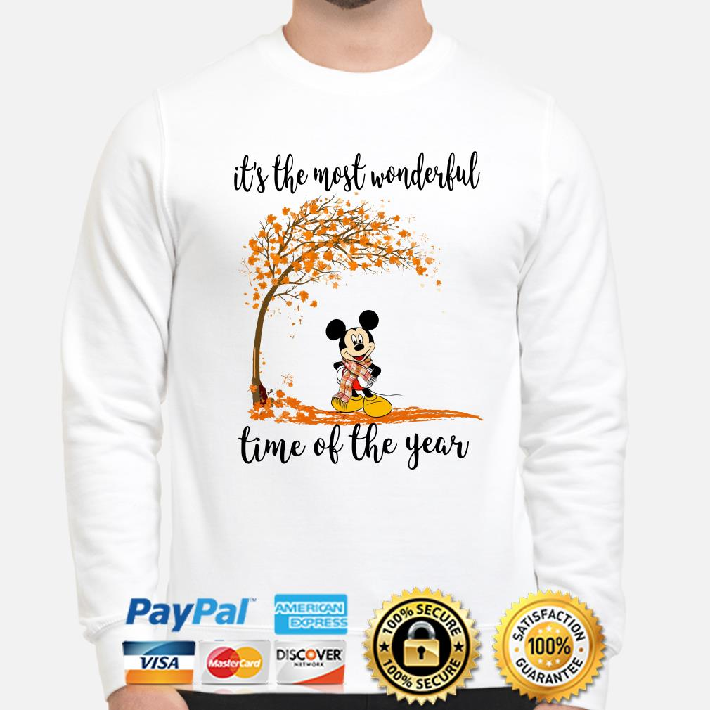 Mickey Autumn it's the most wonderful time of the years sweater