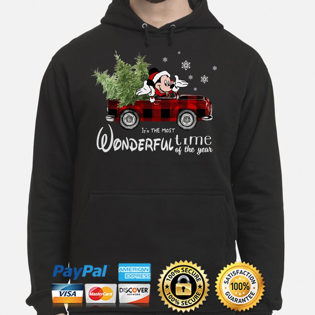 Mickey Mouse It's the most wonderful time of the year Christmas hoodie
