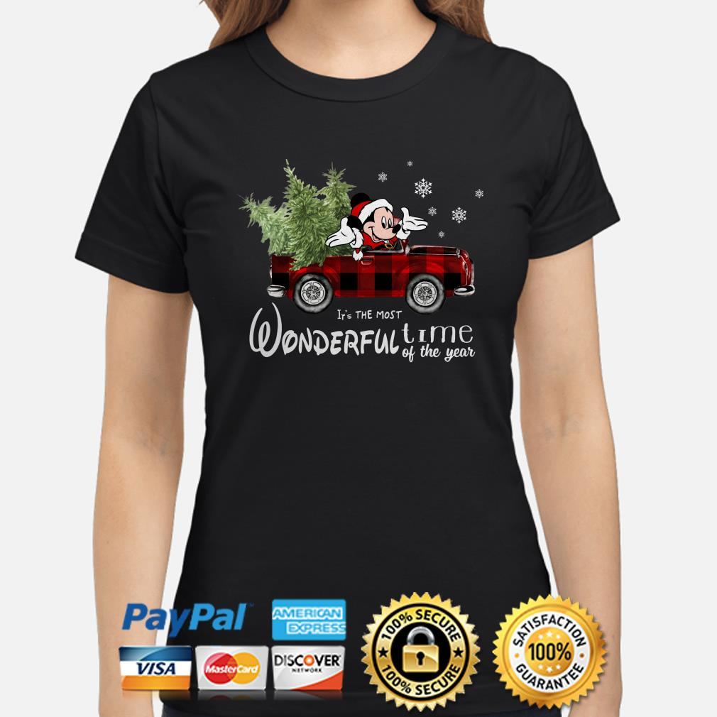 Mickey Mouse It's the most wonderful time of the year Christmas ladies shirt