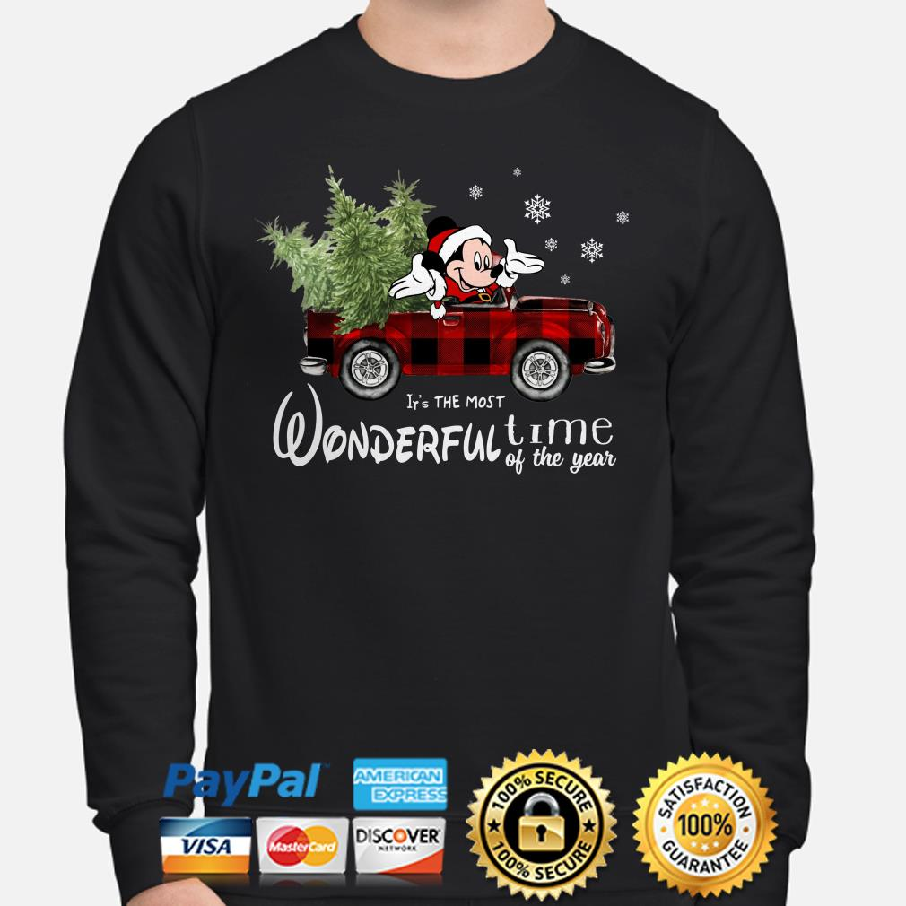 Mickey Mouse It's the most wonderful time of the year Christmas sweater