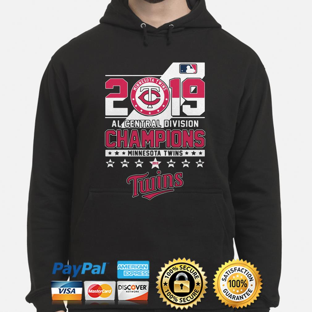 Minnesota Twins 2019 AL central Division Champions hoodie