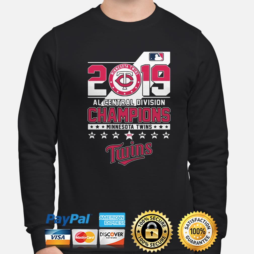 Minnesota Twins 2019 AL central Division Champions sweater