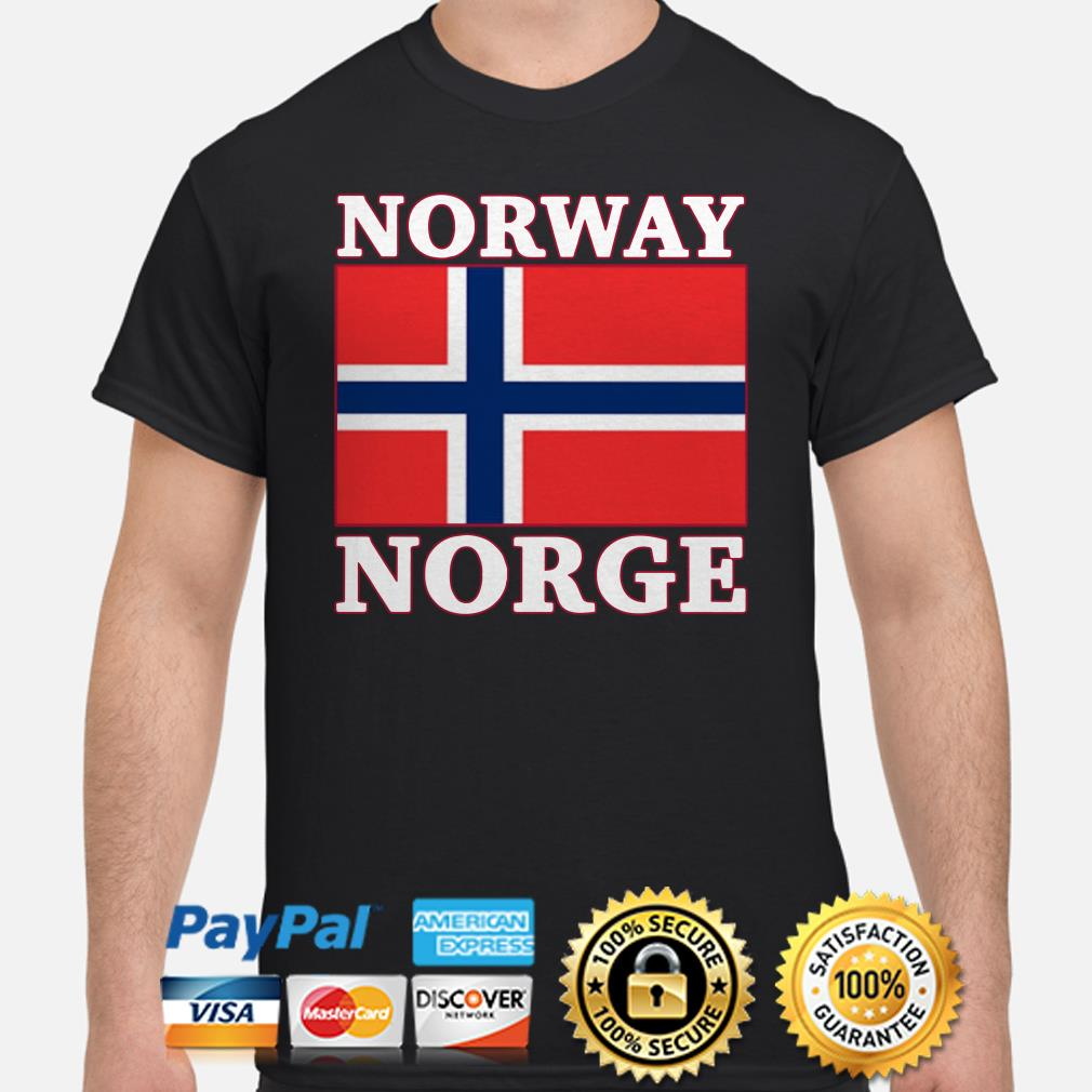 Norway Norge flag shirt