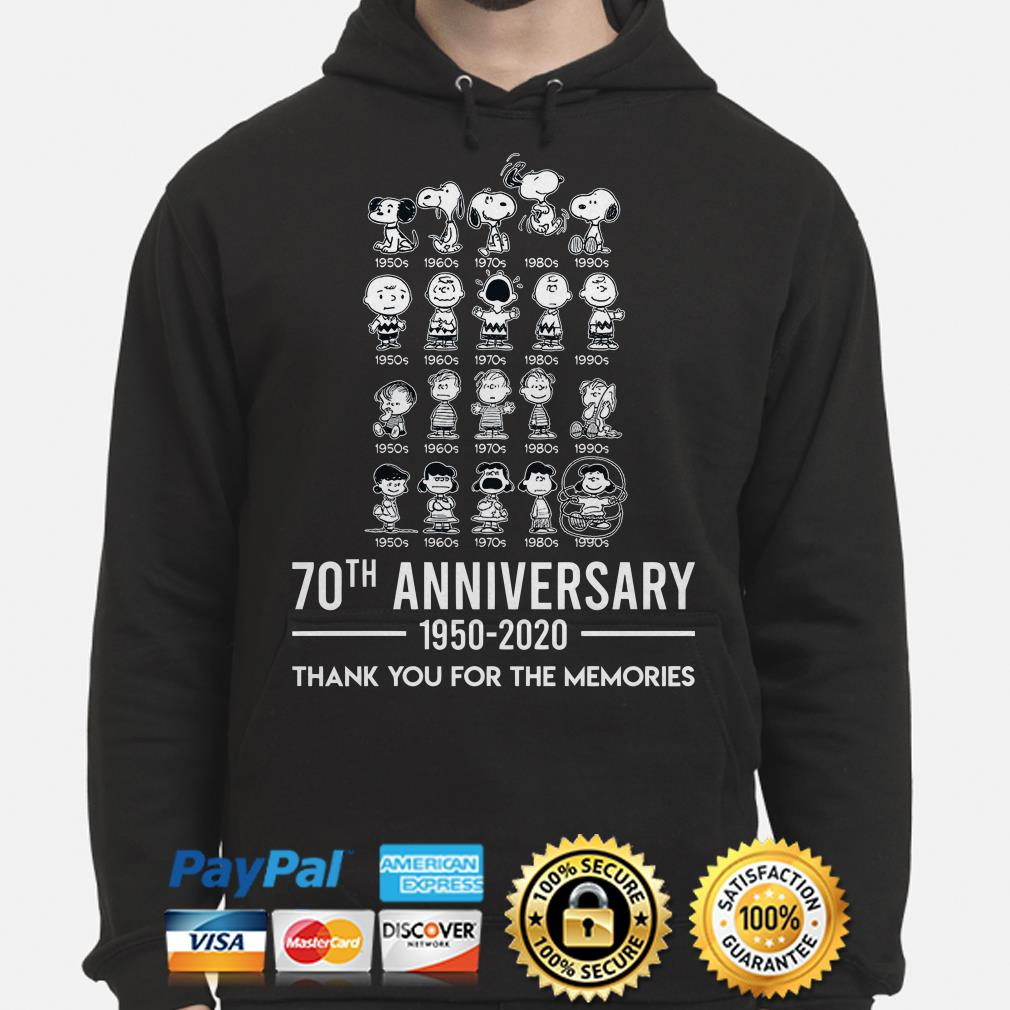 Peanut 70th Anniversary thank you for the memories hoodie