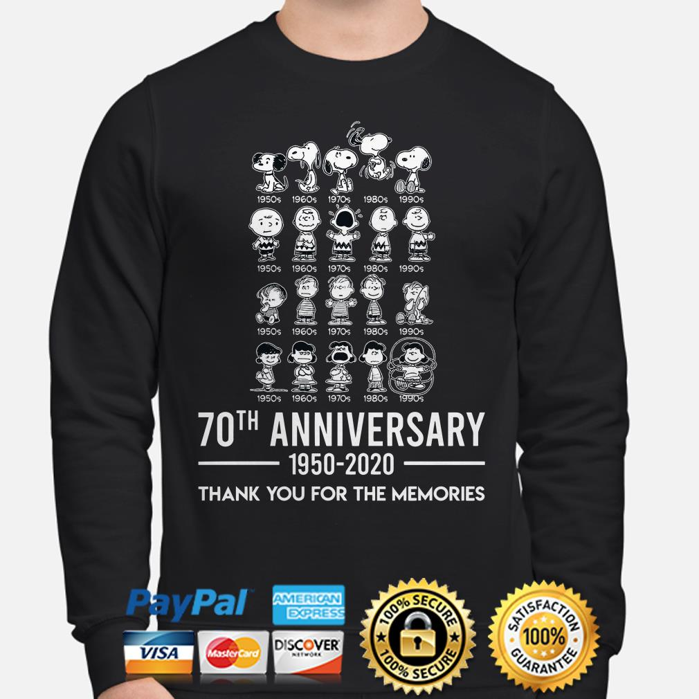 Peanut 70th Anniversary thank you for the memories sweater