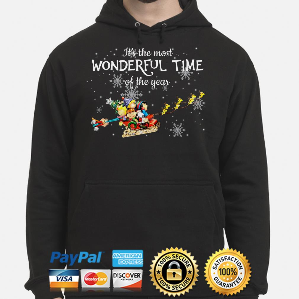 Peanut characters It's the most wonderful time of the year Christmas hoodie