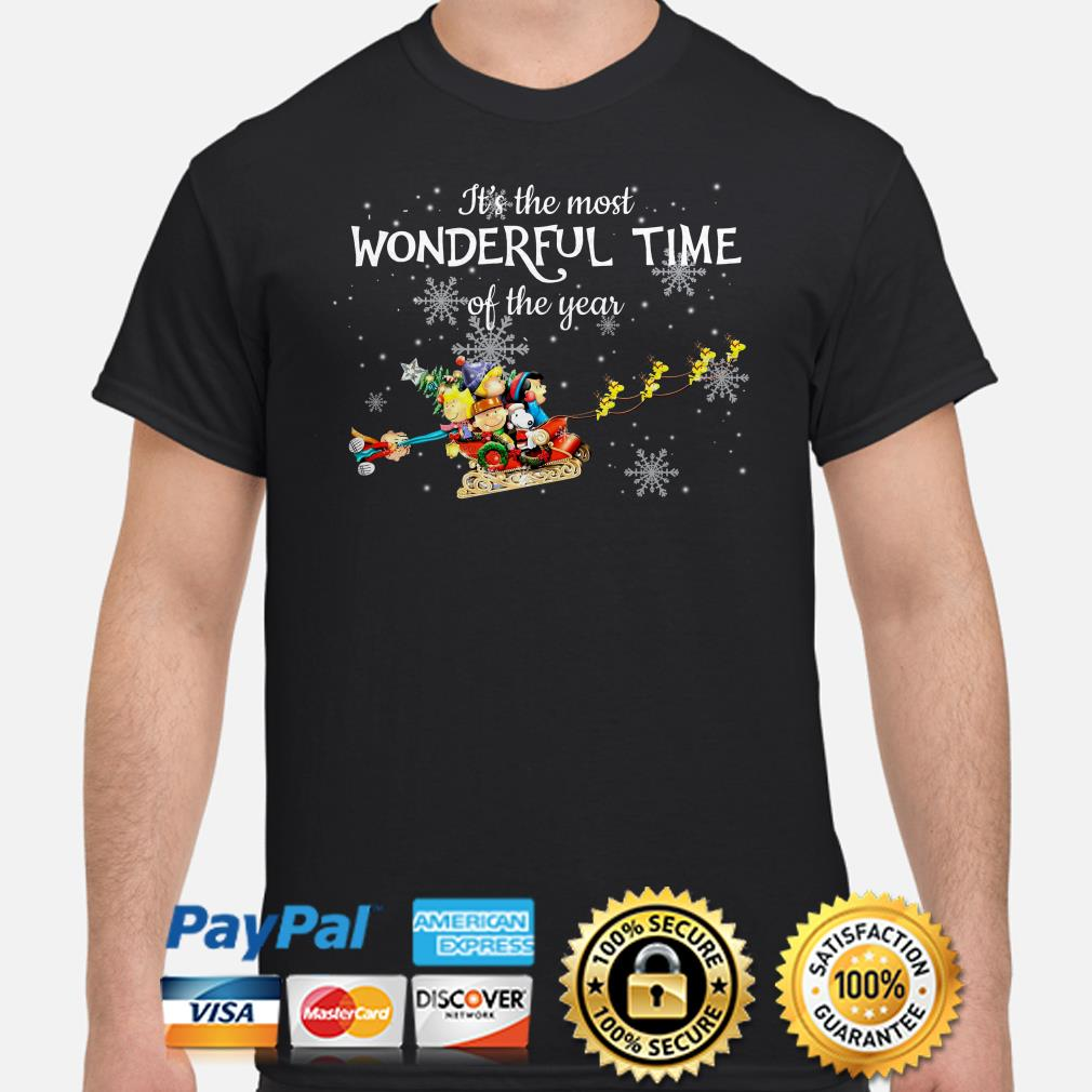Peanut characters It's the most wonderful time of the year Christmas shirt