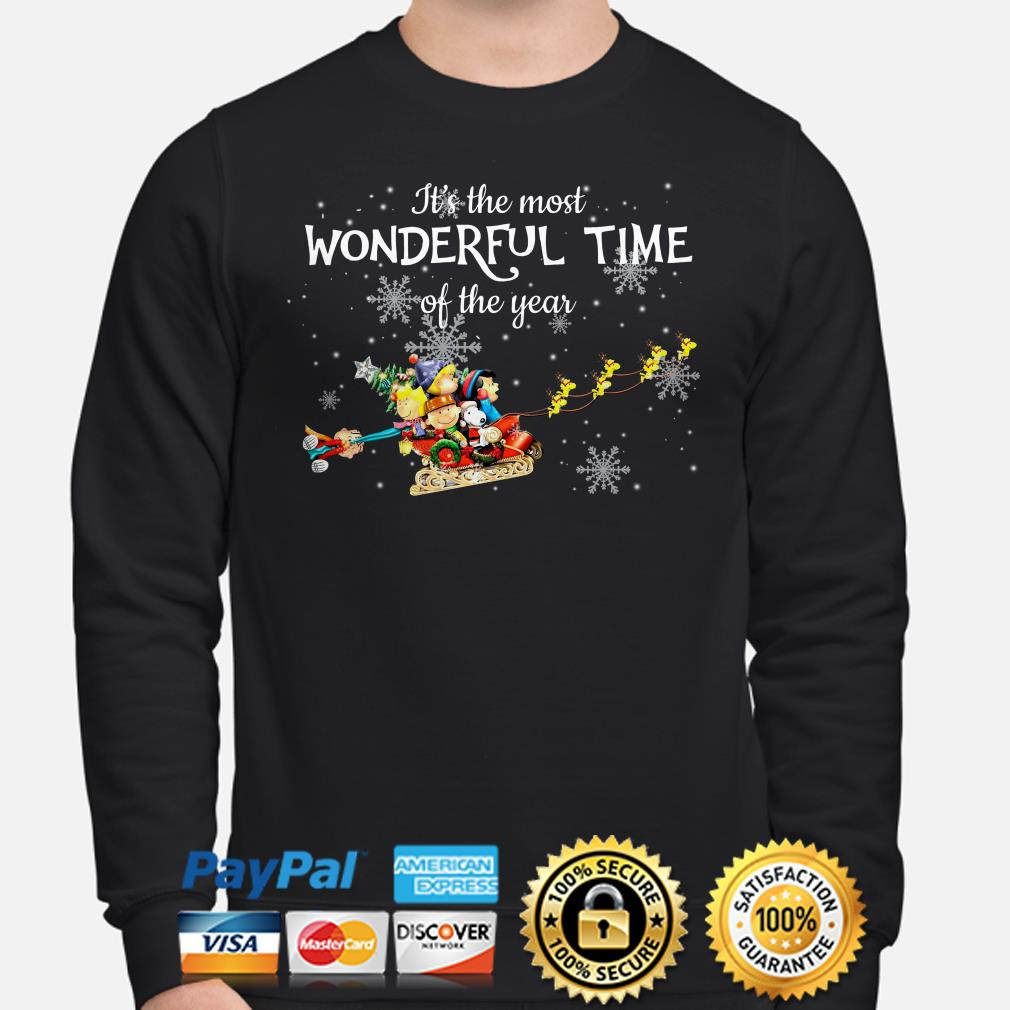 Peanut characters It's the most wonderful time of the year Christmas sweater