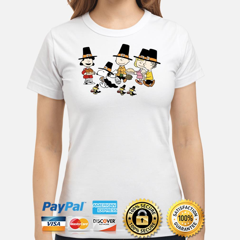 Peanut Characters Thanksgiving ladies shirt