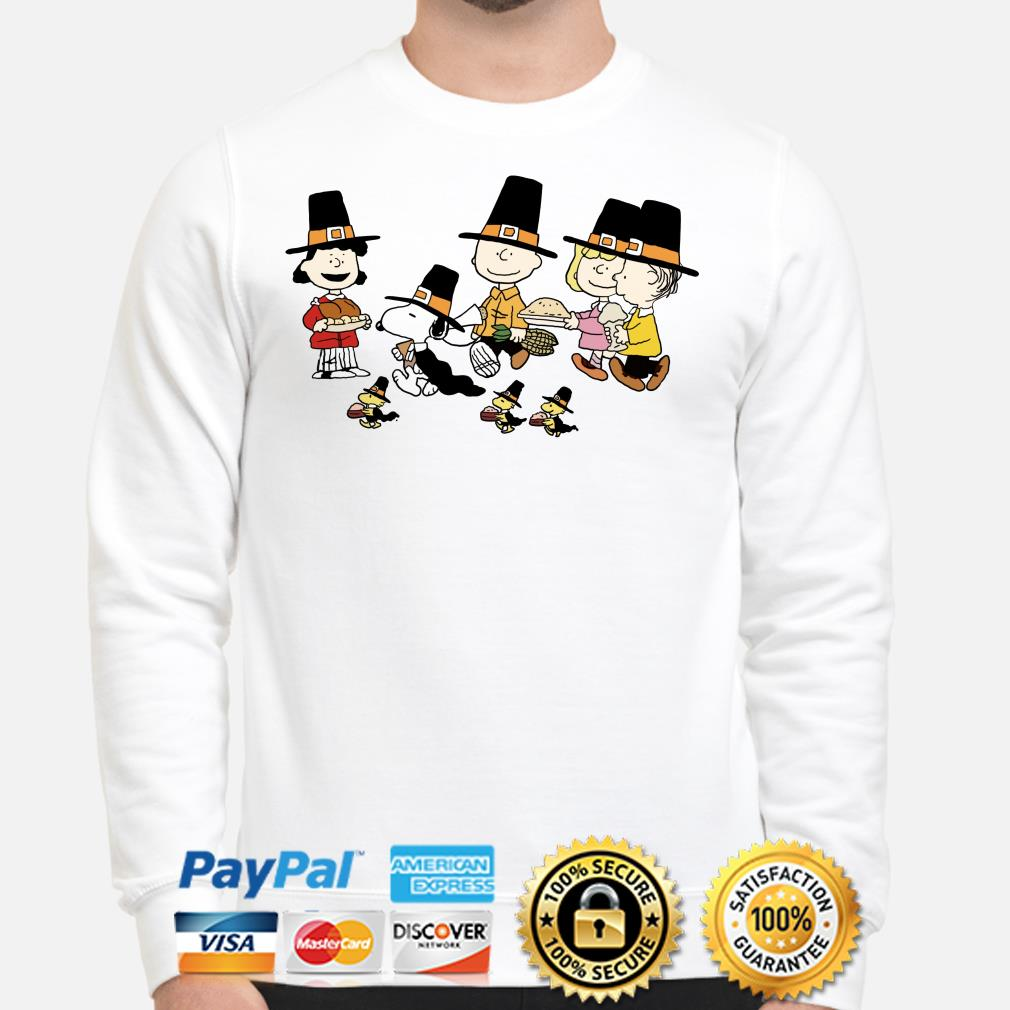 Peanut Characters Thanksgiving sweater