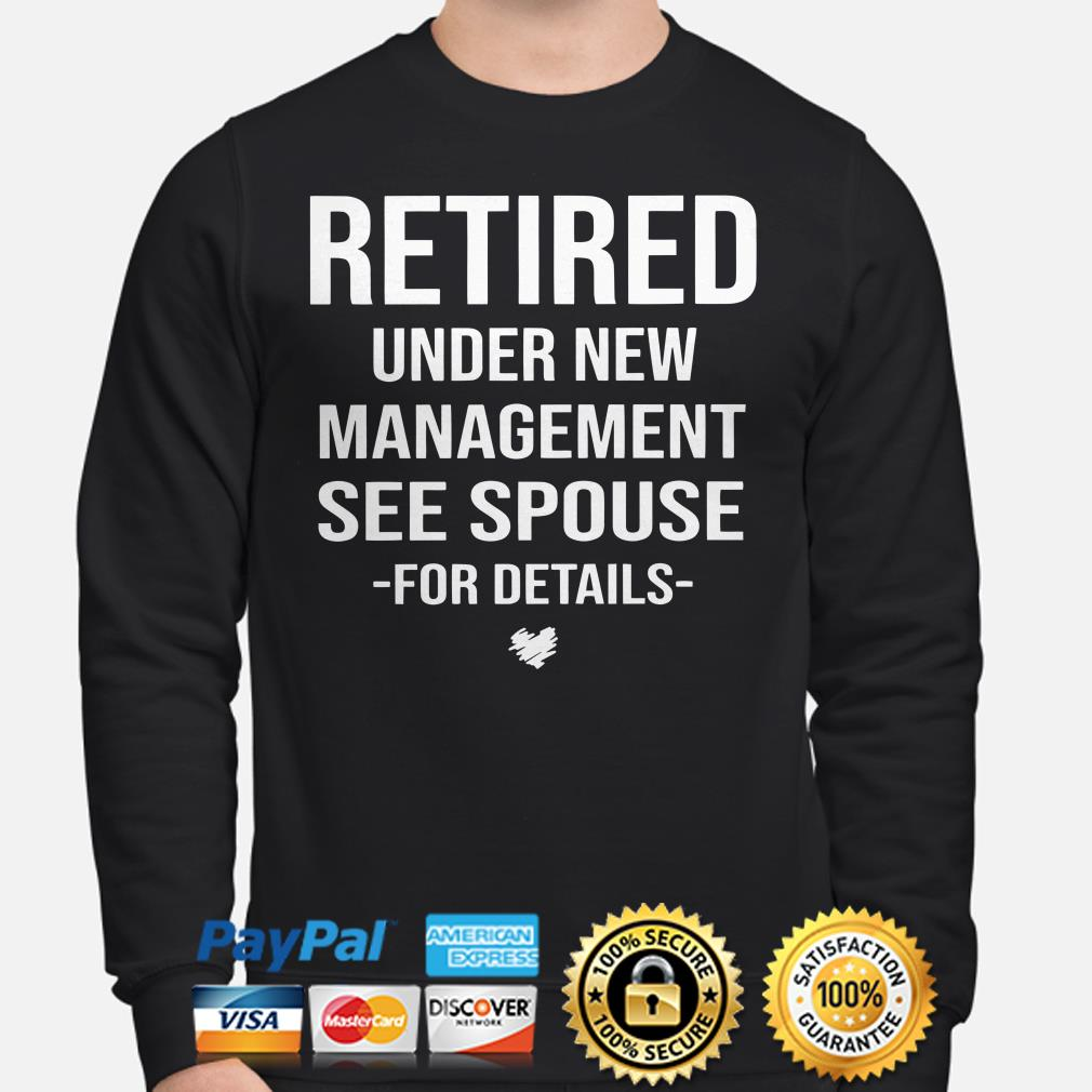 Retired Under new management see spouse for details sweater