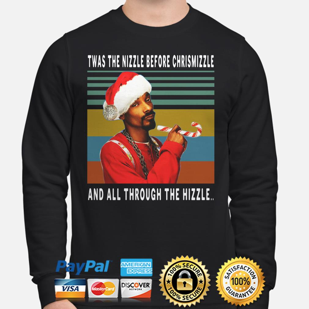 Santa Snoop Dogg Twas the nizzle before Chrismizzle and all through the Hizzle vintage sweater