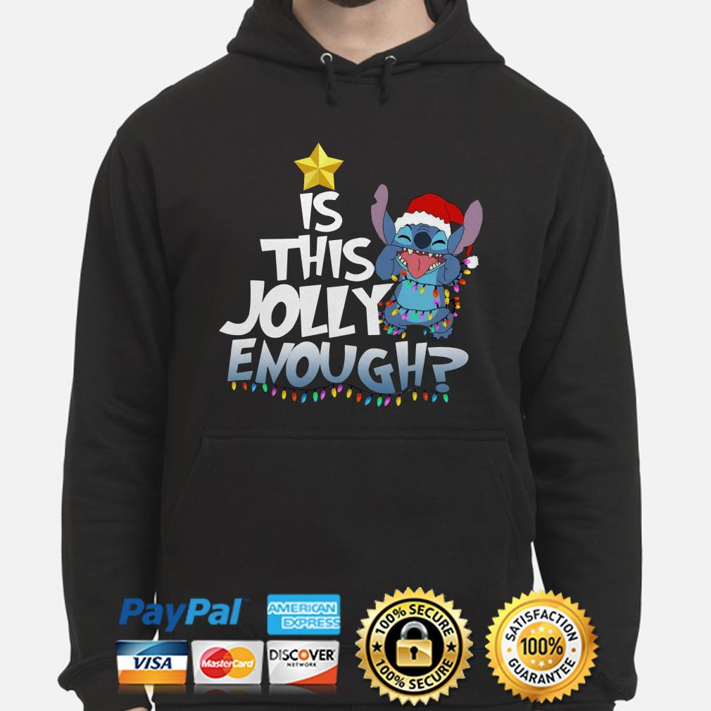 Santa Stitch is this jolly enough Christmas lights hoodie