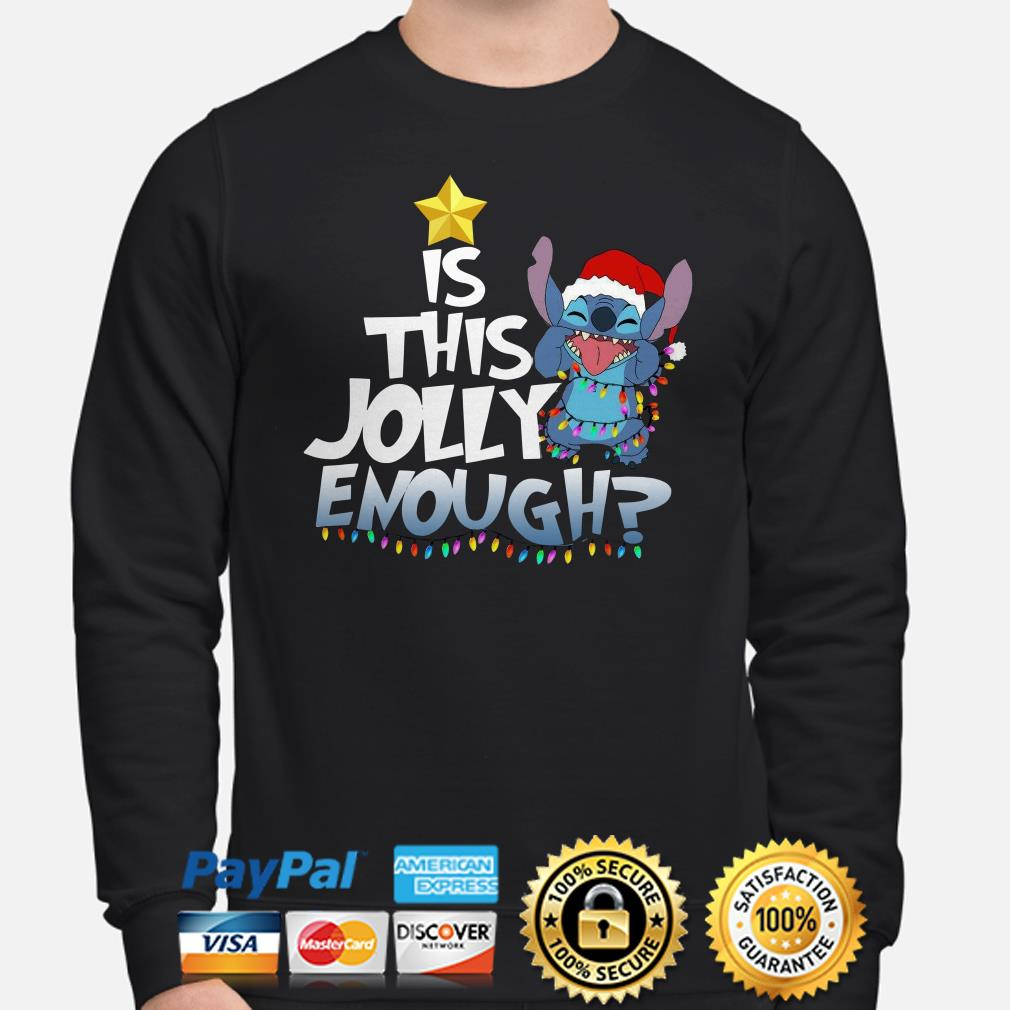 Santa Stitch is this jolly enough Christmas lights sweater