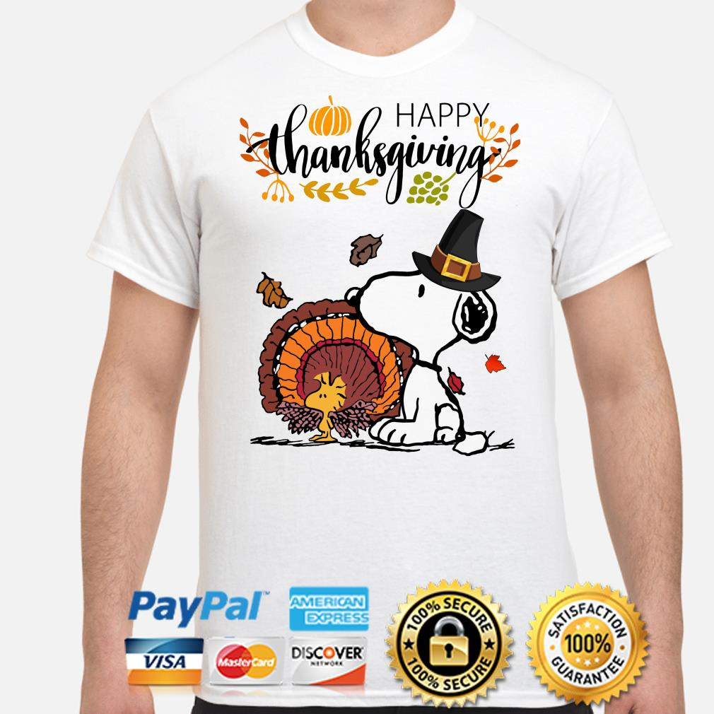 Snoopy and Woodstock Turkey Happy Thanksgiving shirt