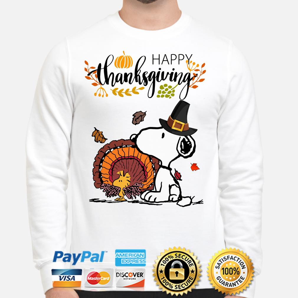 Snoopy and Woodstock Turkey Happy Thanksgiving sweater