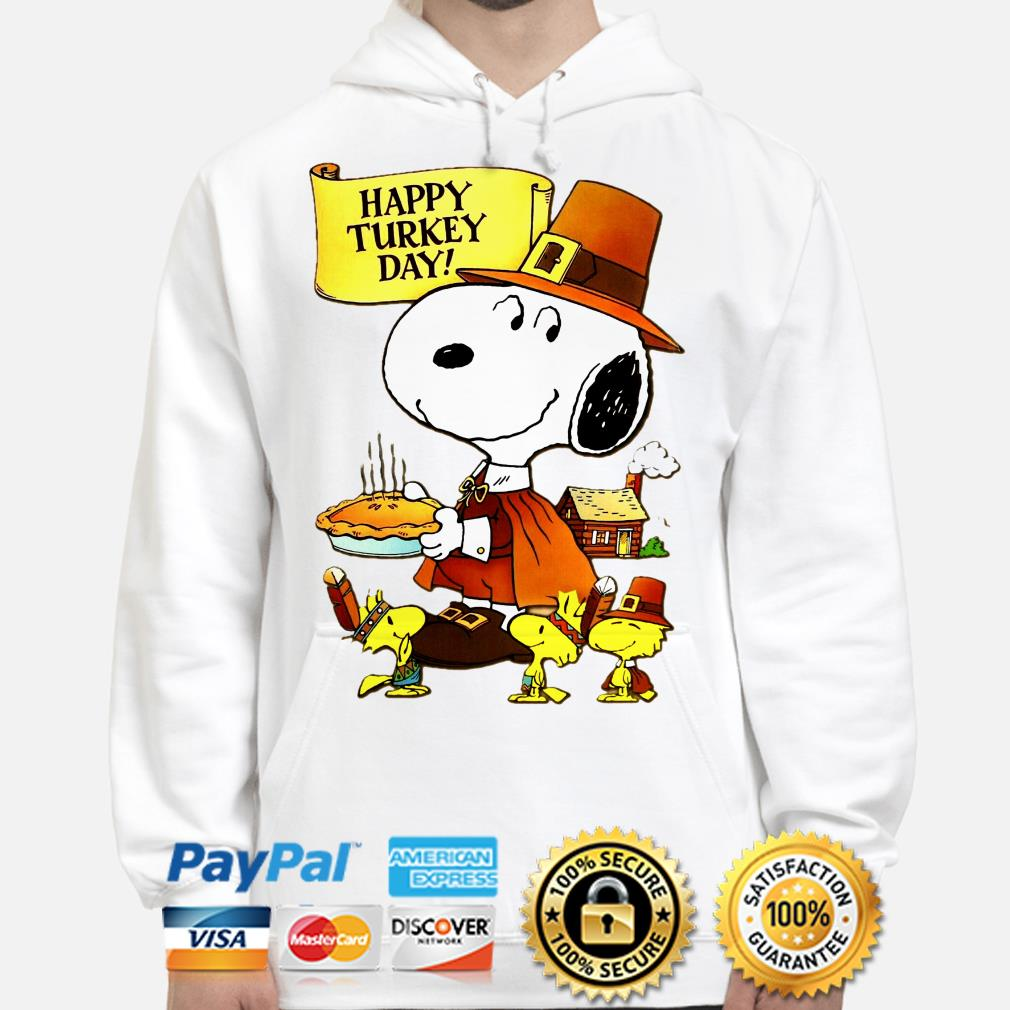 Snoopy and Woodstocks Turkey Happy Turkey day hoodie